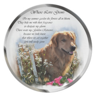 Golden retriever-Kunst Melaminteller