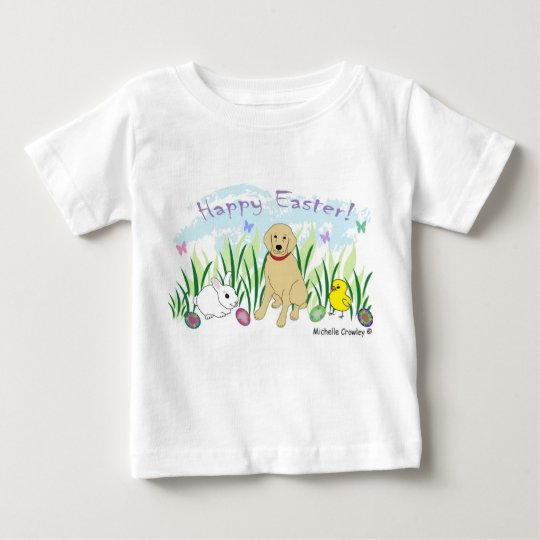 golden retriever Ostern Baby T-shirt