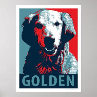 Golden retriever-patriotisches politisches poster