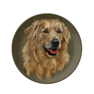 Golden retriever porzellanteller