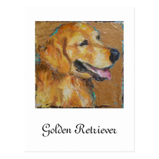 Golden retriever postkarte