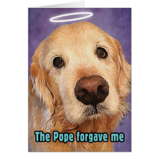 Golden retriever verziehen von Papst Apology Karte