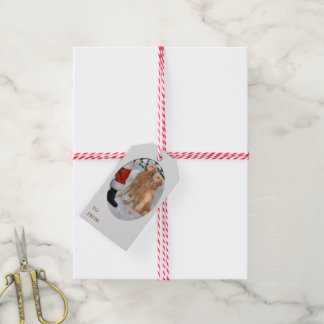 Golden retriever-Weihnachten Geschenkanhänger