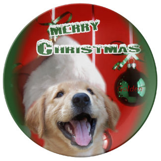 Golden retriever-Weihnachten Porzellanteller