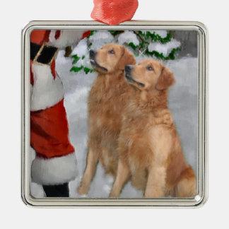 Golden retriever-Weihnachtsgeschenk-Verzierung