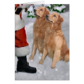 Golden retriever-Weihnachtsgeschenke Karte