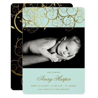 Goldene 12,7 X 17,8 Cm Einladungskarte