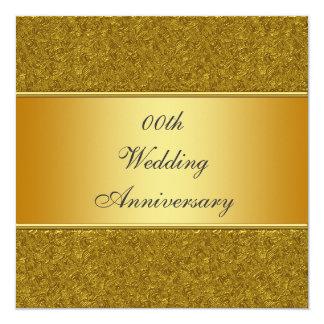 Goldene 50. Hochzeits-Jahrestags-Party Einladung