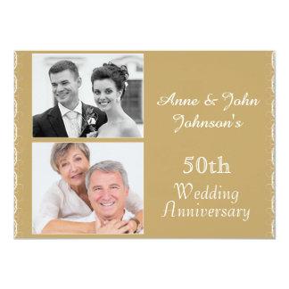 Goldene 50. Hochzeitstag-Einladung 11,4 X 15,9 Cm Einladungskarte