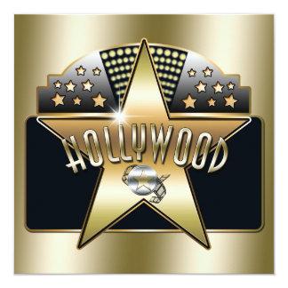 Goldene alte Hollywood-Typografie-Retro Einladung