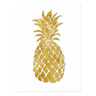 goldene Ananas Postkarte