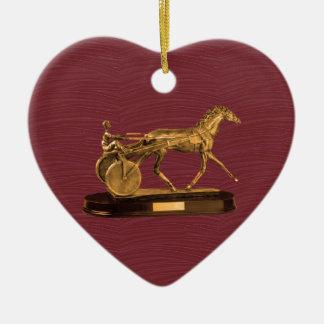 Goldene ANZEIGEN-GESCHENKE: VINTAGES PFERD Keramik Ornament