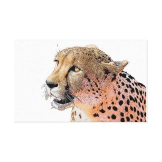 Goldene Augen der Gepardnahaufnahme Leinwanddruck