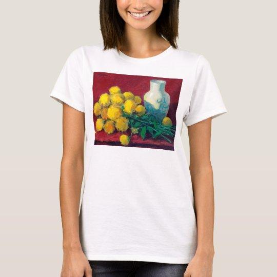 Goldene Ball-Blumen T-Shirt