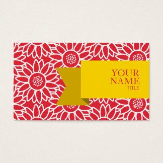 Goldene Band-Alizarin-Hochrot-Sonnenblume Visitenkarte