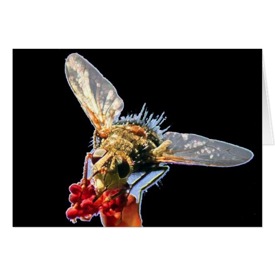 Goldene Bienen-Raum-Gruß-Karte Grußkarte