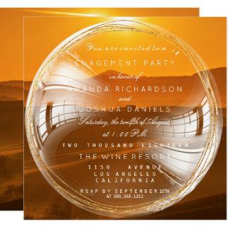 Goldene Blasen-toskanisches Quadratische 13,3 Cm Einladungskarte