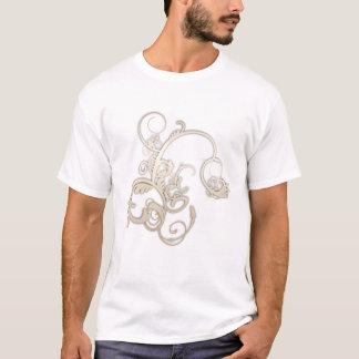 goldene Blumen T-Shirt