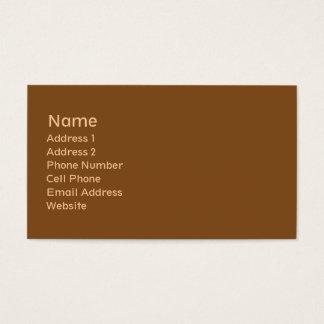 goldene braune Ebene Visitenkarte