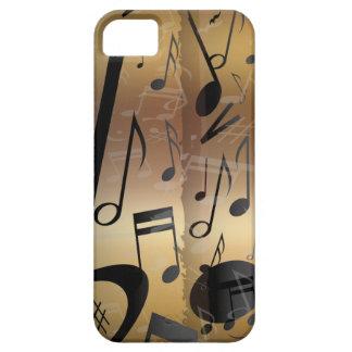 Goldene Bronze u schwarzes Musiknoten iphone 5 iPhone 5 Hüllen
