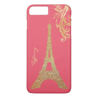 Goldene Eiffelturm kundenspezifische iPhone 7 iPhone 8 Plus/7 Plus Hülle