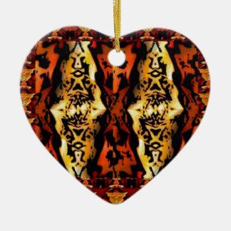 GOLDENE ENGEL: Chinesische Art-grafisches Deko Keramik Herz-Ornament