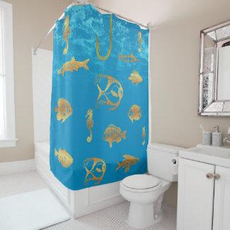Goldene Fische Duschvorhang