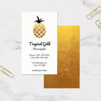 Goldene Folien-Foto-Ananas Visitenkarten