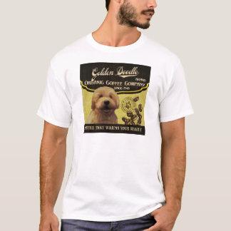 Goldene Gekritzel-Marke - Organic Coffee Company T-Shirt