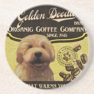 Goldene Gekritzel-Marke - Organic Coffee Company Untersetzer