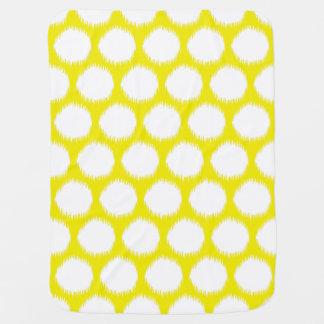 Goldene gelbe asiatische Stimmungen Ikat Punkte Kinderwagendecke