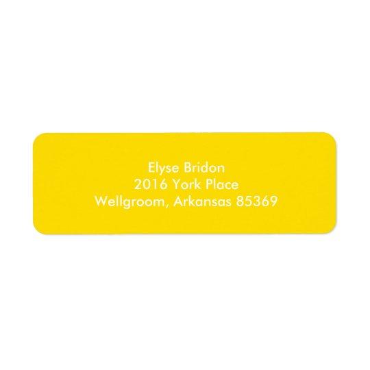 Goldene gelbe Spitzenfarbkoordinierung Rücksende Aufkleber