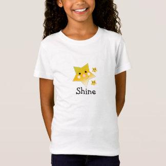 Goldene gelbe Sterne - Glanz T-Shirt