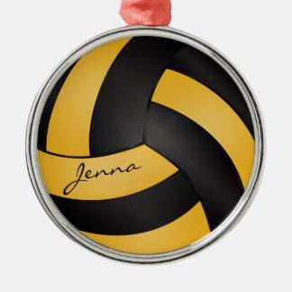 Goldene Gelbe und Schwarze personifizieren Rundes Silberfarbenes Ornament