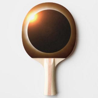 Goldene GesamtSonnenfinsternis Tischtennis Schläger