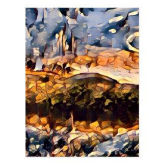 Goldene Glut Postkarte
