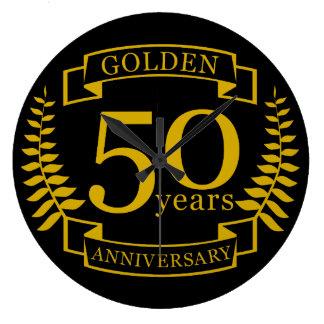 GOLDENE goldene 50 Jahre Hochzeitstag-50 alle Große Wanduhr