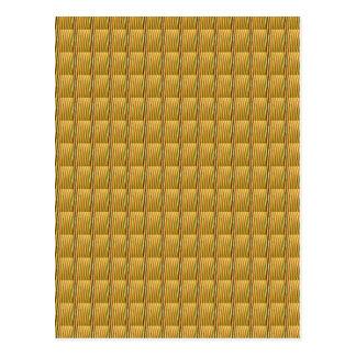 Goldene Goodluck Kristall-Fliesen DIY addieren Postkarte