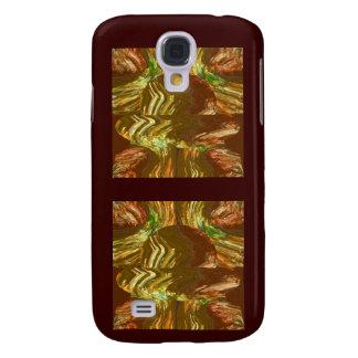 Goldene grafische Kristallkunst Galaxy S4 Hülle