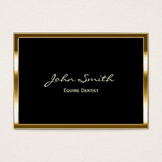Goldene Grenzpferdeartige Zahnarzt-Visitenkarte Visitenkarte