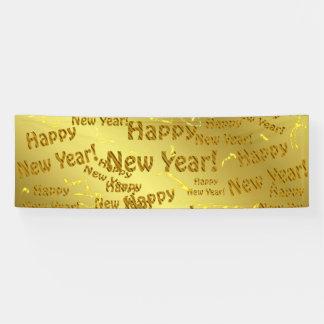 goldene guten Rutsch ins Neue Jahr Banner