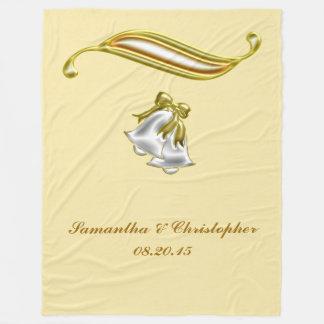 Goldene Hochzeit Fleecedecke