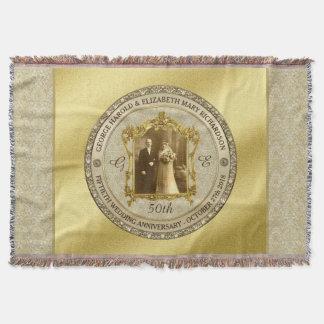 Goldene Hochzeits-Jahrestags-klassischer Decke