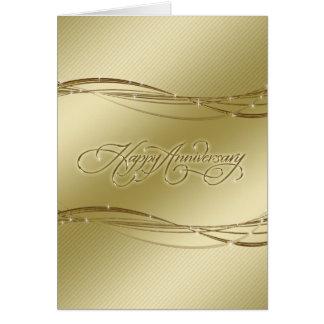 Goldene Hochzeitstag-Gruß-Karte Karte