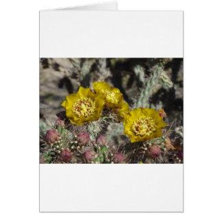 Goldene Kaktus-Blumen Karte