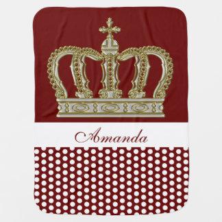 Goldene königliche Krone III + Ihr backgr. u. Babydecke