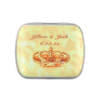Goldene Krone HOCHZEIT Jelly Belly Dosen