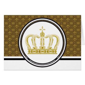 Goldene Krone + Ihre Ideen Karte