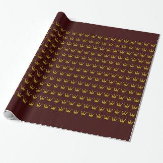 Goldene Kronen-Grenze + Ihre Ideen Geschenkpapier