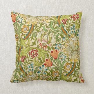 Goldene LilieVintager Pre-Raphaelite Williams Zierkissen